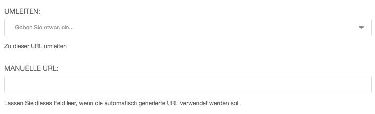 Einrichten einer Weiterleitung auf (externe) URLs