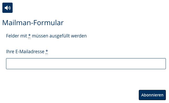 Mailman-Newsletter-Abo (und Kündigung) mit dem django CMS Formular-Plugin einrichten